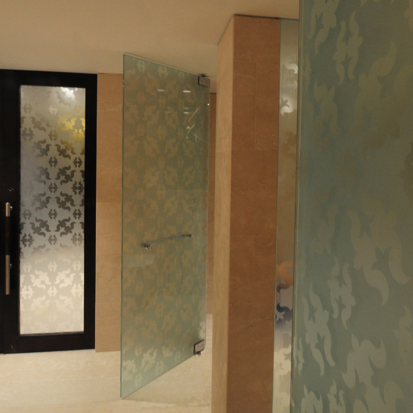 5 Acid Etched Patterns Frameless Showers Ssi